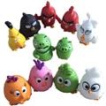 12 pçs/lote 2016 Novos pássaros bonitos Figuras de Ação & Toy Jogo brinquedos infantis vermelho/preto/aves/porco/pequenos pássaros presente de Natal para crianças