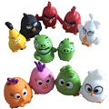 12pcs/lot 2016 New cute birds Action & Toy Figures Game kids toys red/black/birds/pig/small birds Christmas gift for children
