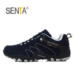 SENTA Spring Hiking Shoes Men Women Waterproof shoes Wear-resisting Climbing Mountain Shoes Leather Sport Sneakers Trekking Boot