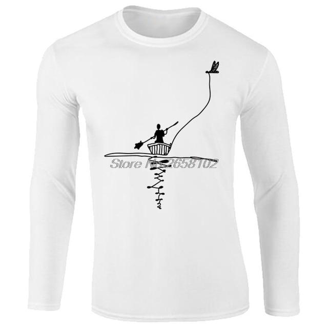 Eenvoudig Ontwerp Casual Mannen Shirts Print shirt Lang T Bird Cano trBhQxsdC