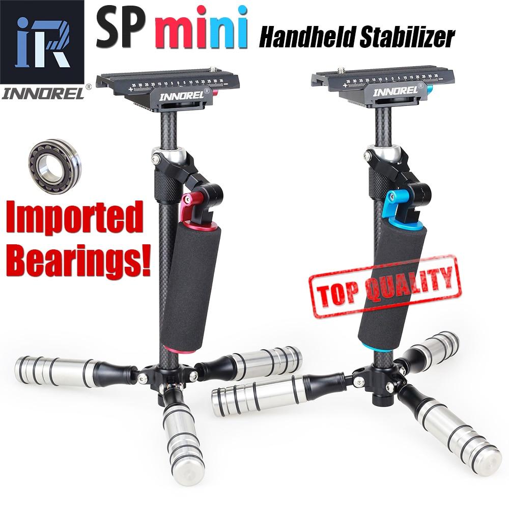 INNOREL SP mini Handheld Fibra De Carbono Estabilizador Steadycam steadicam para DSLR Câmera De Vídeo Portátil luz Melhor do que S40 S60