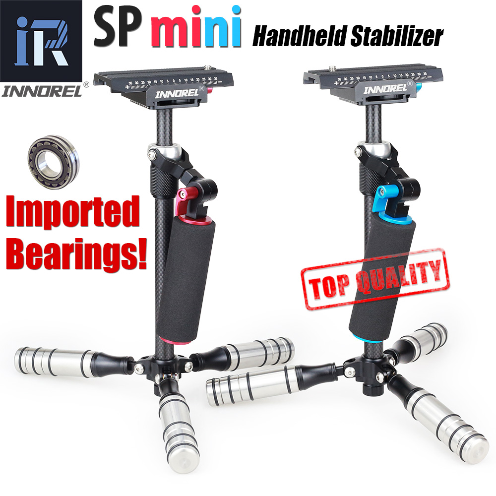 INNOREL SP mini Handheld Stabilizer Carbon Fiber steadicam for DSLR Video Camera Portable light Steadycam Better than S40 S60 waterfall spout bathroom sink faucet with double handles nickel brushed finished