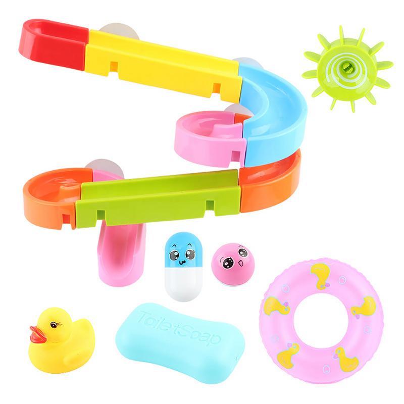 Baby Bathroom Sprinkler Turn Music Baby Water Track Assembling Slides Bathing Bathing Comfort Bath Classic Toys For Children