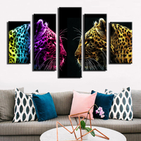 Modern Home Office Decoration Living Room Art HD Prints Colour Animals Leopard Oil Painting Pictures On