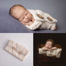 New!!Multifunctional Sleeping Bag Newborn Photography Props Blanket Wraps Baby Knit Wrap Newborn Scarf Basket Filler Fotografia