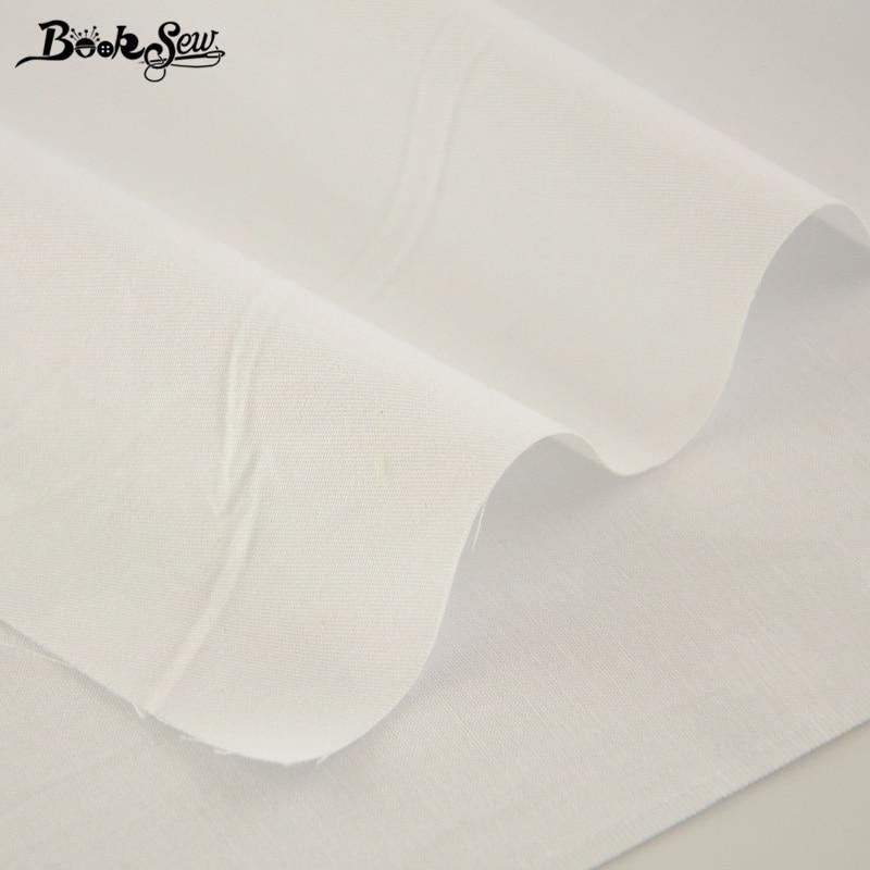 Booksew 100% tkanina bawełniana Biały kolor Telas Por Metro - Sztuka, rękodzieło i szycie - Zdjęcie 2
