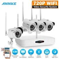 ANNKE Wireless Wifi 4CH P2P NVR 720P HD Video CCTV Home Security Camera System