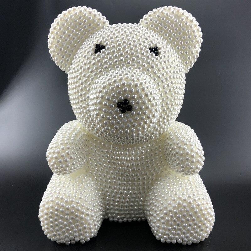 2018 Creative cadeaux DIY perle ours Kit 340mm mousse ours pour creative cadeau d'anniversaire différentes couleurs 8mm poires intéressant 1 pcs