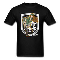 Russian Sexy Lady Warrior With Gun T Shirt For Men Cool Design Fashion Top T Shirts