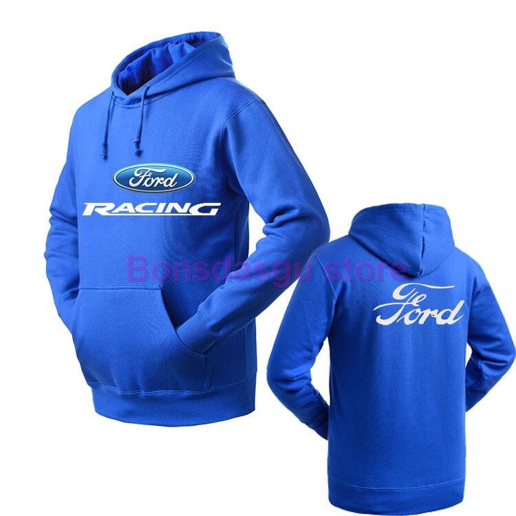 Новый с капюшоном осень-зима Ford пуловер Толстовки для флис уличная Костюмы
