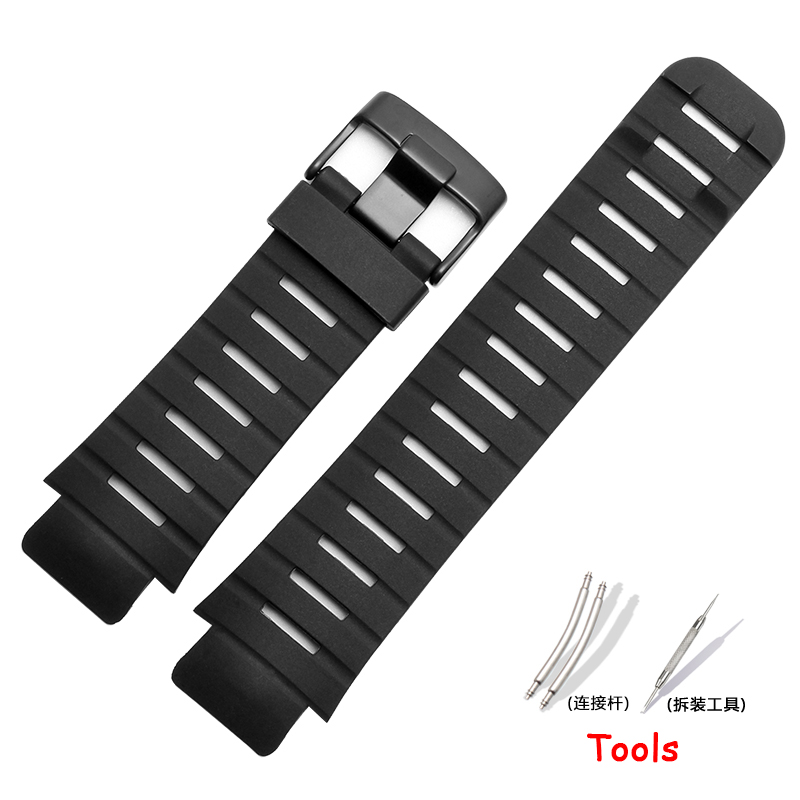 New Rubber watchband Watch Accessories For SUUNTO X-LANDER MILITARY Strap 22mm black strap