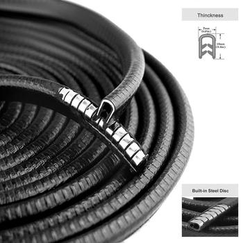 13Ft(4M) U Shape Car Door Seal Strip Rubber Edge Trim Auto Door Guard Protector Strips For Most Cars Boat and Grip Range
