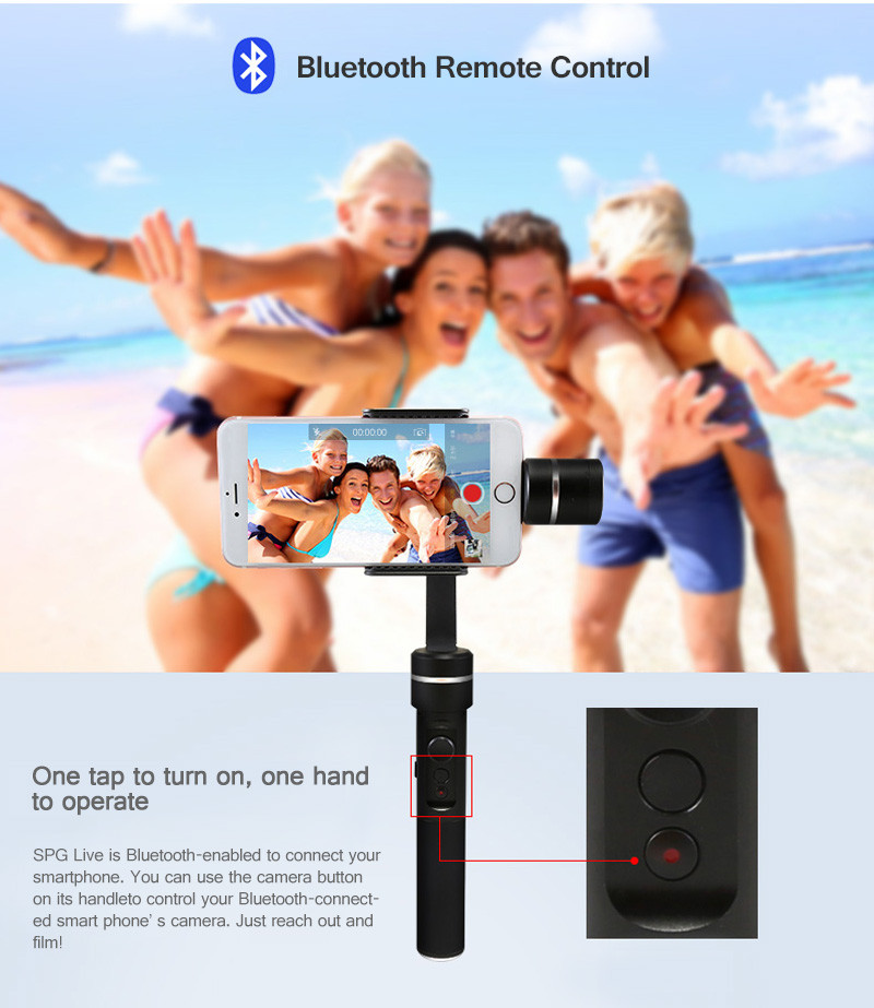 Feiyu SPG Live 3 axis handheld smartphone gimbal for iPhone 7 Samsung PK Zhiyun Z1 Smooth C DJI osmo mobile Free shipping