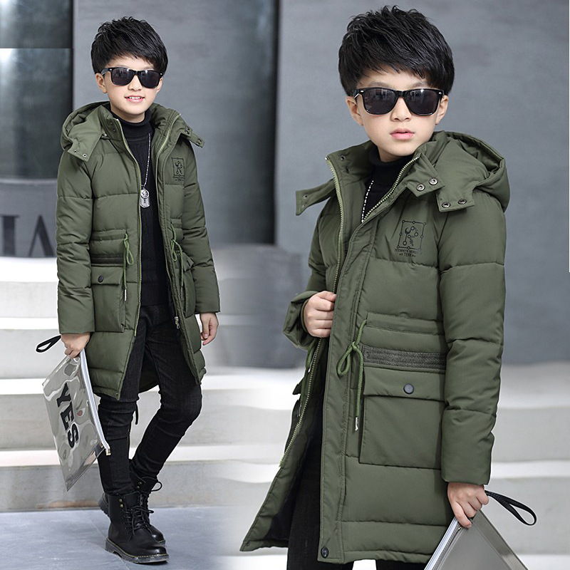 2017 New Arrival Children Coat Boys Winter Coats Long-sleeved Coat Warm Teenager Boy Jacket Winter Outerwear Thick Kids Hooded 2017 fashion teenager motorcycle coats boys leather jackets patchwork children outerwear letter printed boy faux leather jacket