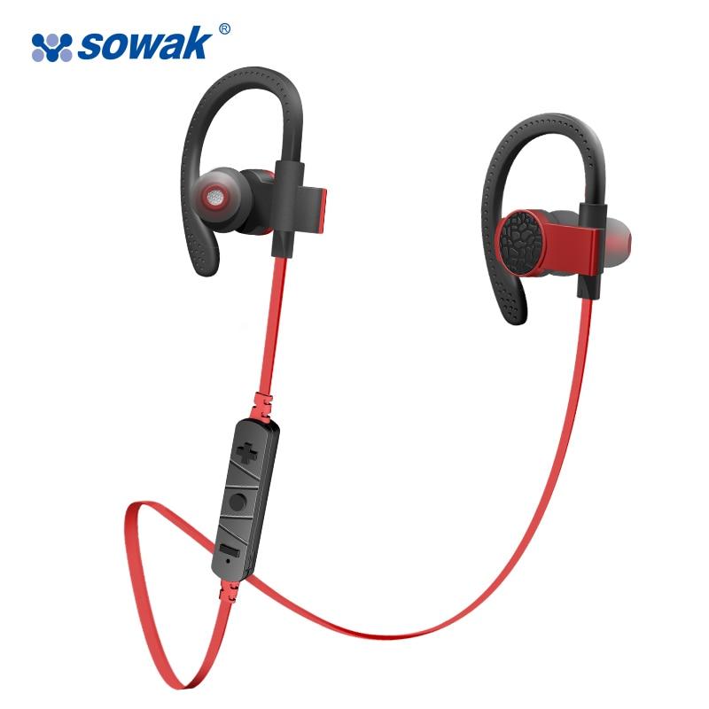Wireless Bluetooth Earphone Sowak Q7 IPX4 sweatproof Headset with Microphone Comfortable Ear hook Sport Bluetooth Headphones remax 2 in1 mini bluetooth 4 0 headphones usb car charger dock wireless car headset bluetooth earphone for iphone 7 6s android