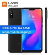 "Xiaomi Redmi 6 Pro 4GB RAM 64GB ROM Smartphone Snapdragon 625 5.84"" 19:9 Screen 4000mAh 12MP+5MP Dual AI Camera"