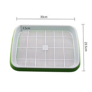 Image 3 - Hidroponik fide tepsisi Çift Katmanlı Filiz Plaka hidroponik sistem Büyümek Kreş Tencere Tepsi Sebze Fide Pot 3 Takım