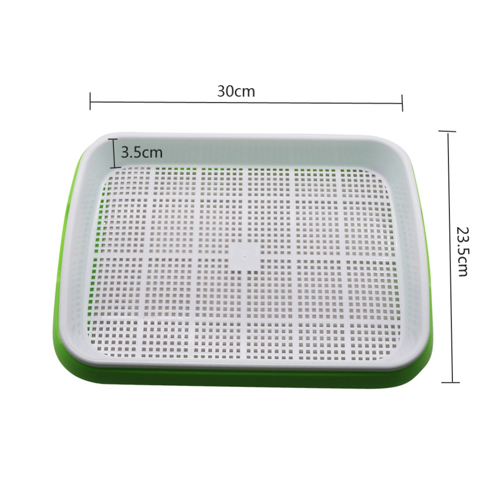 Image 3 - Hydroponics Seedling Tray Double Layer Sprout Plate Hydroponics  System To Grow Nursery Pots Tray Vegetable Seedling Pot 3 SetsNursery  Pots