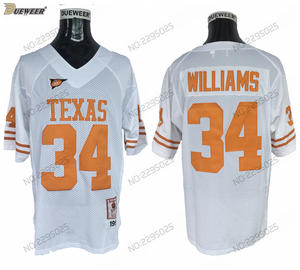 69d954ca2a6 DUEWEER Road White 34 Ricky Williams Stitched Football Shirts