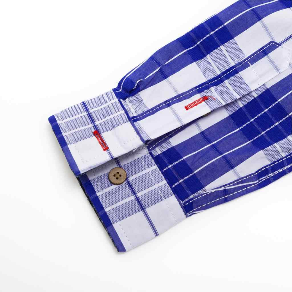 Fredd マーシャル夏ファッション新 2019 格子縞のシャツの男性カジュアルビジネス長袖スリムフィットシャツ綿 100% 男性シャツ 193