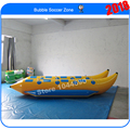 Free shipping 3.9*2.1m double tube inflatable flying banana boat,banana boat