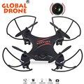 Gw009c global drone quadcopter rtf 4ch zangão hd quadricopter drone quadcopter dron helicóptero de controle remoto com câmera hd