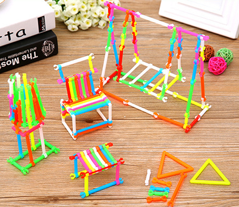 150 PCS 3D buliding toys Kindergarten Children Smart stick building blocks child plastic educational toys Diy
