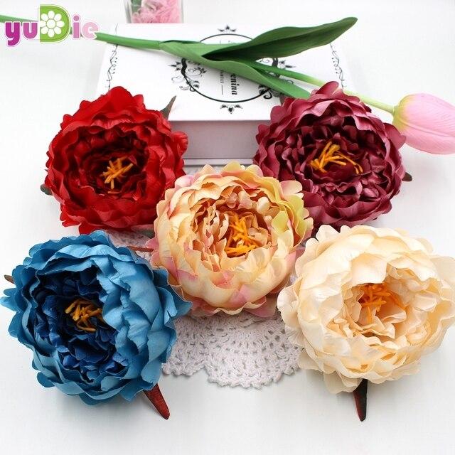 Big size 1pcs peony flower bouquet palace emperor Rose silk flower ...