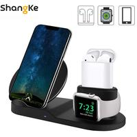 Wireless Charger Charging Stand 3 in 1 for Apple Watch and Airpods Qi Fast Wireless Charging Station Compatible for iPhoneXS 8 X