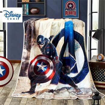 disney hero bedlinens twin size throw blanket 100% cotton kid beddings for boy 3d captain america bed spreads queen summer quilt