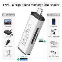 цена на High Speed TF SD Memory Card Reader USB 3.0 OTG Adapter SDHC SDXC MMC Type C Cardreader Micro SD/TF CF MS Microsd Readers