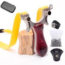 Профессиональная Рогатка набор охотничья Рогатка из нержавеющей стали с резиновой лентой для игры на открытом воздухе
