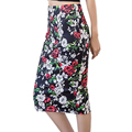 2017 Summer Autumn Vintage clothing pretty Printed Pencil Skirt Midi Elastic High Waist Pattern Skirts empire midi floral skirts