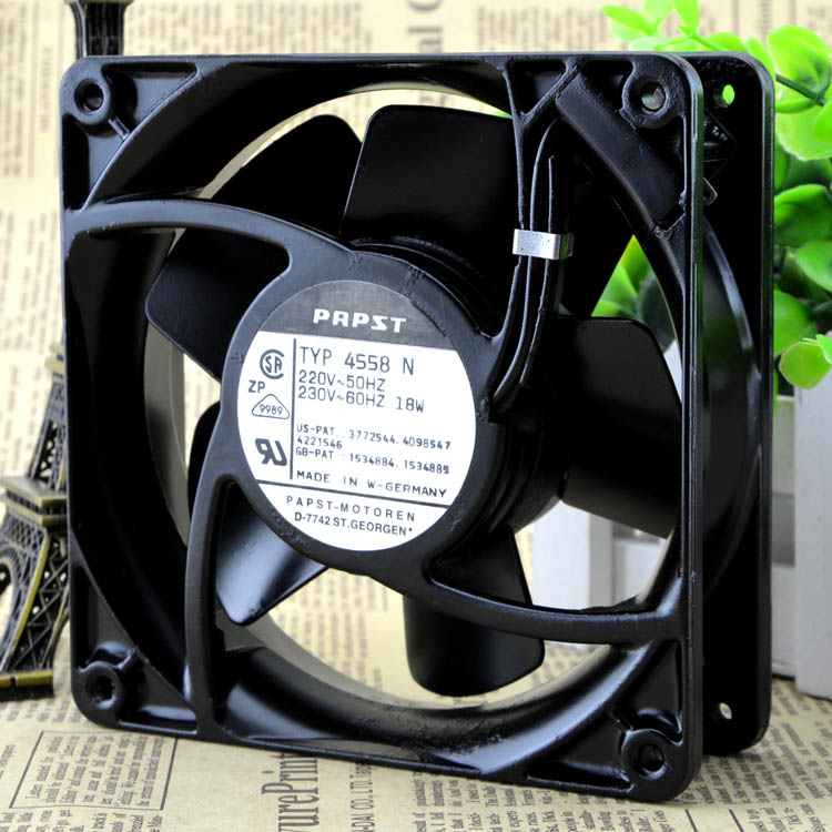 Free Delivery. 220 v 18 w TYP4558N PAPST 12038 120 * 120 * 38 mm fans 12 cm all metal free delivery typ 5118 n 12 dc 48 v 9 5 w fan three lines all metal resistance to high temperature