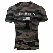 2019 Men Brand Gyms T Shirt Camouflage Bodybuilding Breathable Fit Cotton Shirts Men Short Sleeve Workout