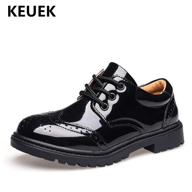 New Spring/Autumn Boys Leather Shoes British style Black Brogue Shoes Children Student Baby Toddler Kids Breathable Flats 041New Spring/Autumn Boys Leather Shoes British style Black Brogue Shoes Children Student Baby Toddler Kids Breathable Flats 041