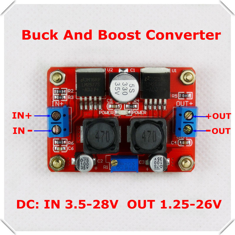 DC-DC Adjustable Step-Up step-down Power Supply Module boost buck voltage converter LED LM2596&LM2577 [ 3 pcs/lot] - RD official store