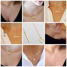 Simple Cute Customized Necklace Women Joyeria Gold Chains De Acero Inoxidable Best Friend Necklace Chocker Womens Jewellery(China)