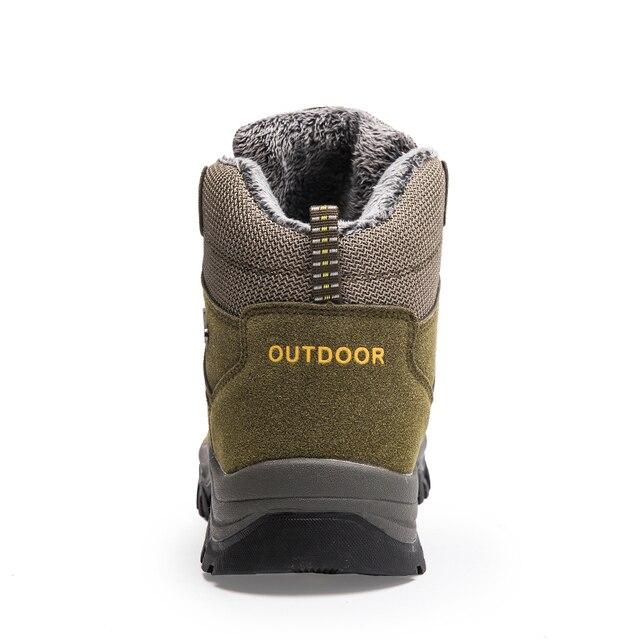 Super Warm Men Winter Boots Suede Leather Men Boots Fur Plush Snow Boots waterproof Winter Shoes For Men Outdoor Boots Shoes 3