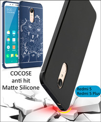 COCOSE Drop resistance anti hit Silicone Case For Xiaomi Redmi 5 Plus 5.7 5.99 inch Matte Frosted 3D Dragon Armor Cover