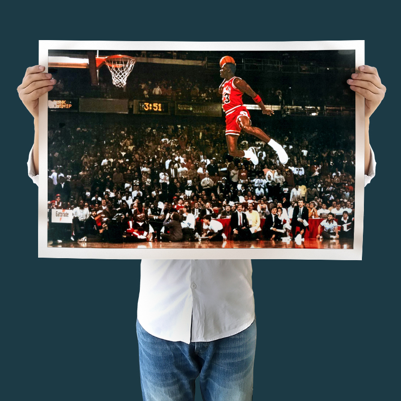 Modern Art Canvas Michael Jordan Free Throw Line Dunk Wall Painting Sport Poster Prints Paintings No Frame In Calligraphy From