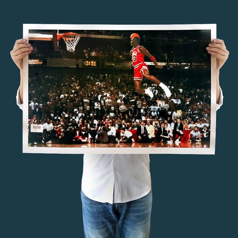 Moderne Kunst Leinwand Michael Jordan Freies Wurflinie Dunk ...