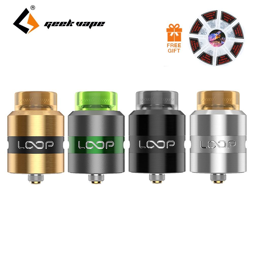 все цены на Free Gift! Original Geekvape Loop RDA Tank 24mm RDA Single/Dual Coil Building Vape Loop RDA fit for squonker MOD vs Zeus Dual