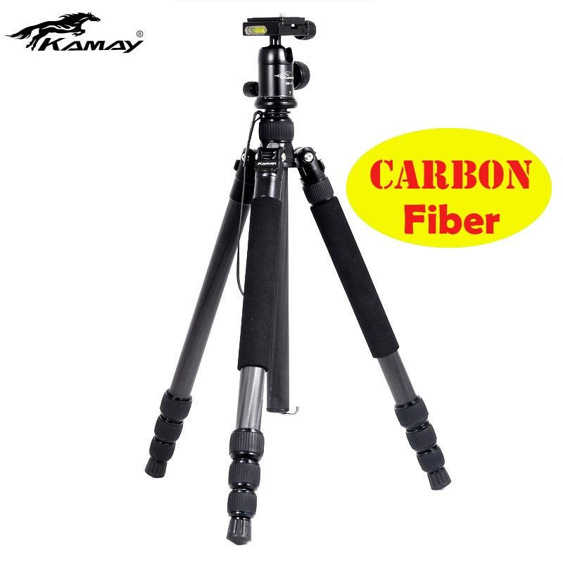 Special Offer Carbon Fiber Tripod Kamay km-345 Professional Photography Tripod Ball Head For DSLR Camera Portable Tripod