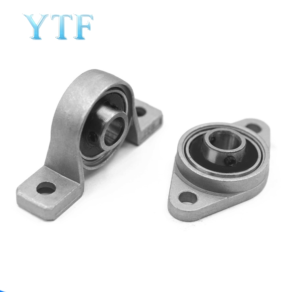 10pcs Horizontal KFL08 Bearing Bracket For TrapezoidalT8 Lead Screw 3D Printers Parts Mounted Stand Part Stainless Steel Support