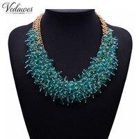 2015 NEW Hot Sale Z Fashion Necklace XG134 Collar Bib Necklaces Pendants Chunky Crystal Statement Necklace