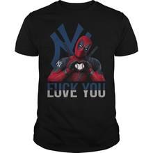 04eb2b1572619 Nueva York Yankees camiseta de Deadpool Fxck te amo Nueva York Yankees  camisa de dibujos animados