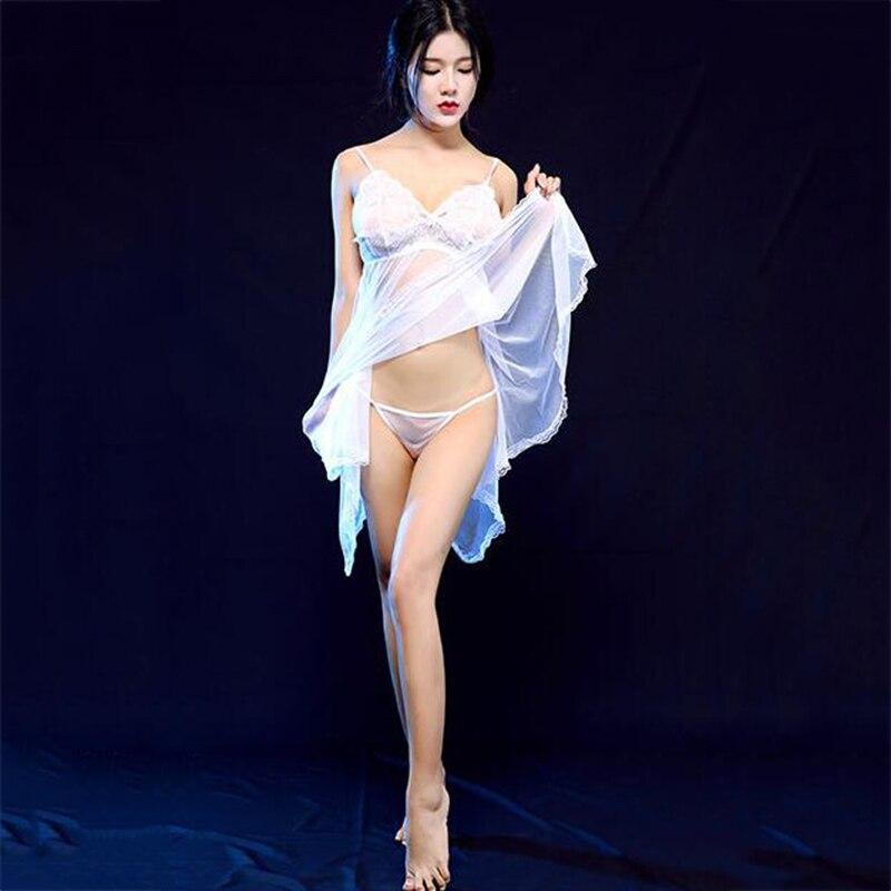 Модные женские прозрачные кружевные эротические пижамные комплекты, нижнее Белье для сна, сексуальные костюмы в подарок