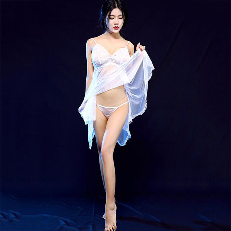 Fashion Women Perspective Erotic Transparent Lace Sex Pajamas Suits Female Underwear Sleepwear Sexy Costumes Gifts