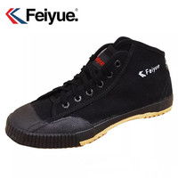 Feiyue men women shoes original Basic Classics Knight shoes black Canvas Rubber Lace Up shoes sneakers